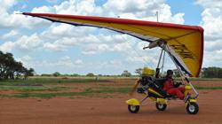 Weight shift controlled microlight pilot training